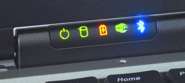 Индикатор заряда АКБ на ноутбуке