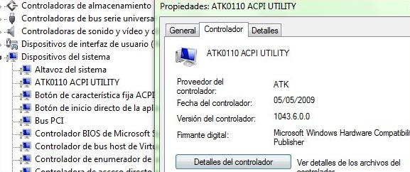 Fix ACPI ATK0110 Unknown Device