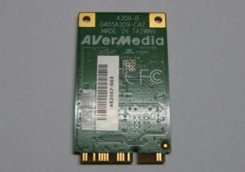 AVerMedia A309 (MiniCard, DVB-T) Drivers v.1.0.0.63 Windows XP / Vista / 7 / 8 32-64 bits
