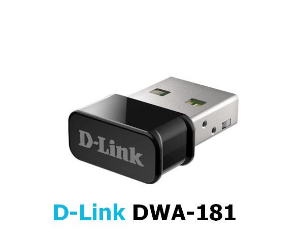 D-Link DWA-181 rev.Ax AC1300 USB Wireless Adapter Driver v.1.00 Windows 7 / 8 / 8.1 / 10 32-64 bits