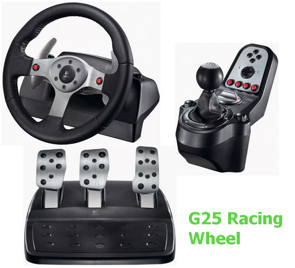 Logitech G25 Racing Wheel Driver v.5.10.127 Windows XP / Vista / 7 / 8 / 8.1 / 10 32-64 bits