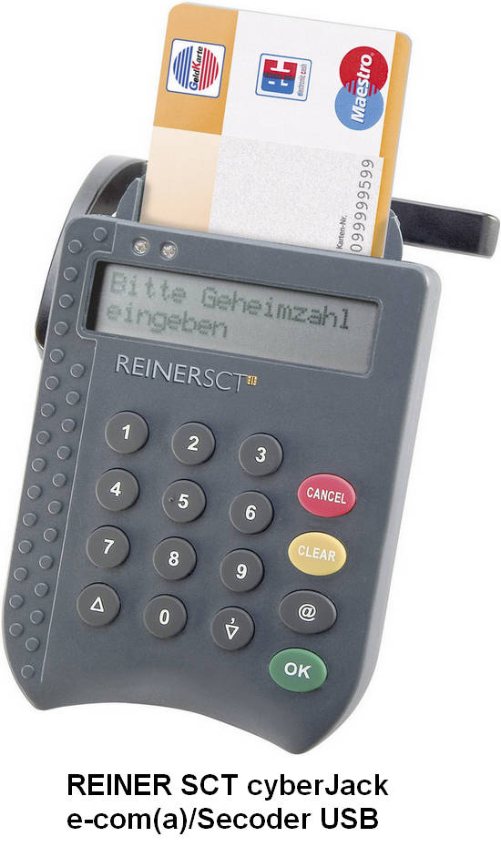 REINER SCT cyberJack pinpad/e-com USB Drivers v.6.0.7.0 Windows XP / Vista / 7 / 8 / 8.1 / 10 32-64 bits