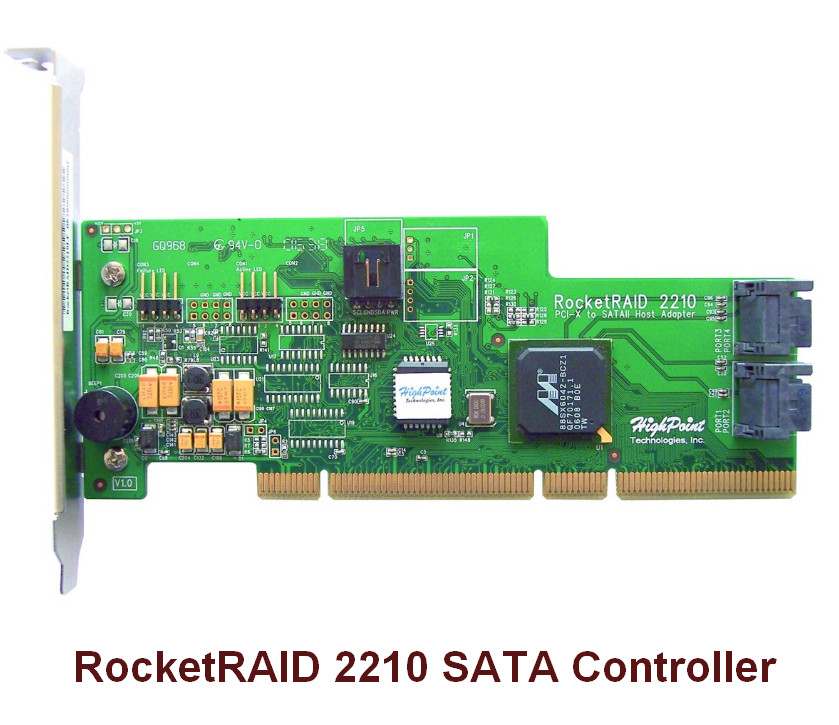 HighPoint RocketRAID 2210 SATA Controller Driver v.1.3.7.1023 Windows XP / Vista 32-64 bits