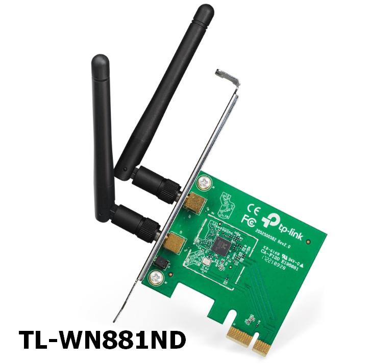 TP-LINK TL-WN881ND N300 PCI Wireless Adapter Driver Windows XP / Vista / 7 / 8 / 8.1 / 10 32-64 bits