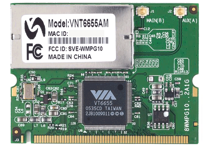 VIA VT6655 WLAN Driver v.2.19a Windows XP 32-64 bits