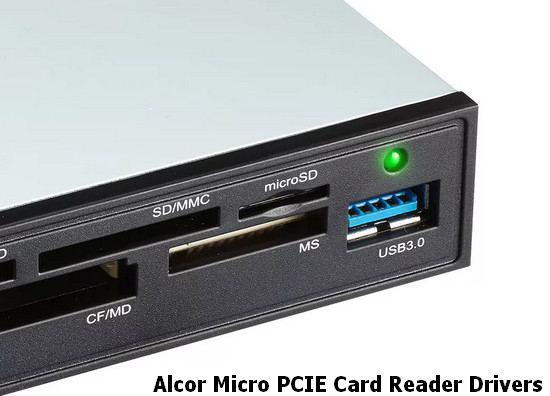 Alcor Micro PCIE Card Reader Drivers v.1.19.02.2300 Windows 10 64 bits