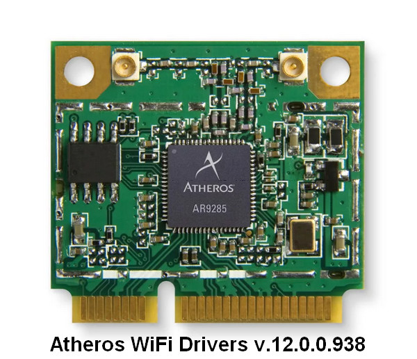 Qualcomm Atheros Wireless Lan Drivers v.12.0.0.938 Windows 10 64 bits