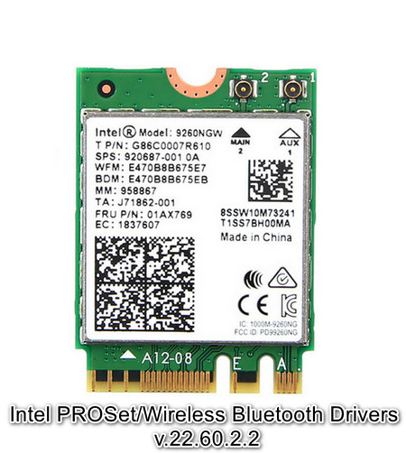 Intel PROSet/Wireless Bluetooth Drivers v.22.60.2.2 Windows 10 64 bits