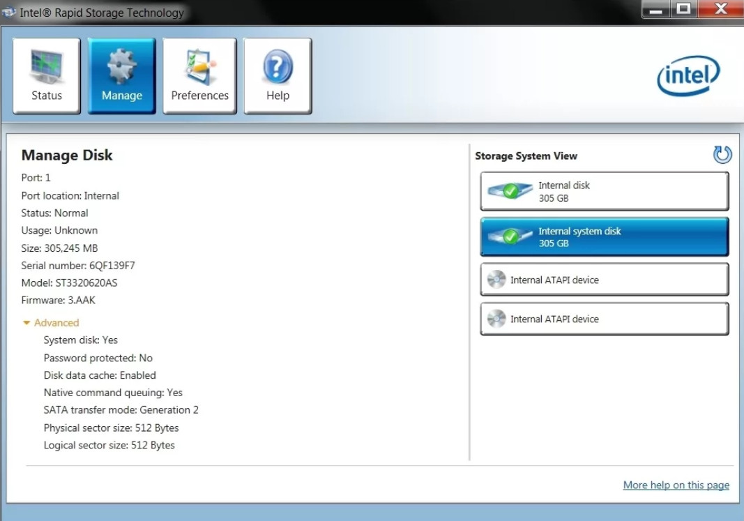 Intel Rapid Storage Technology (RST) Driver v.17.2.12.1035 Windows 8.1 / 10 64 bits