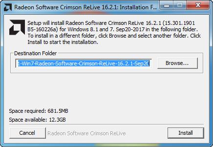 AMD Radeon Software Crimson Edition Beta Driver v 16 2 1 v