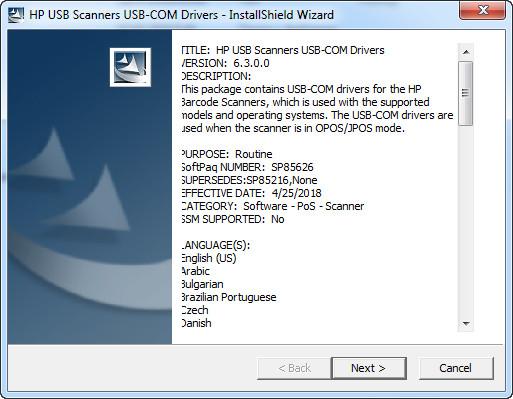 Handheld Barcode Scanner Driver for HP v 6 3 0 0 v 6 1 0 0 v