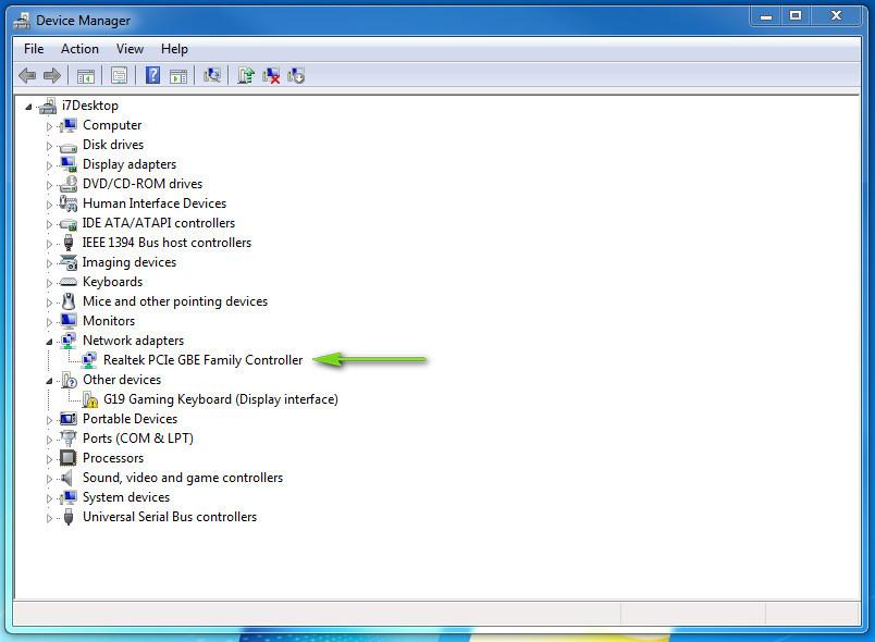 Драйвер сетевой карты Realtek PCIe GBE Family Controller