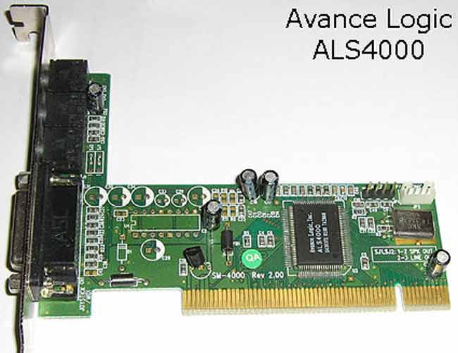Avance ALS4000 PCI Multimedia Device Drivers