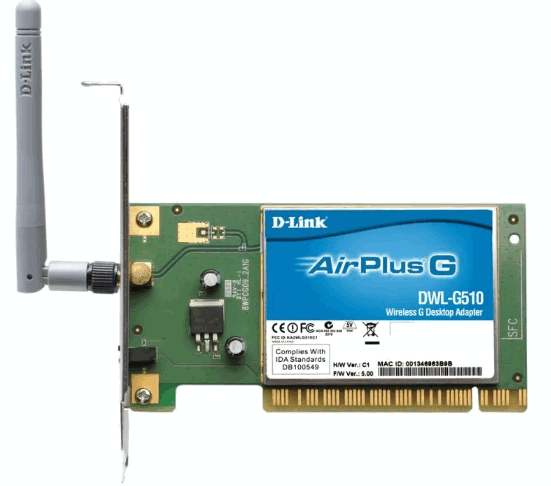 D-Link AirPlus G DWL-G510 Wireless PCI Card Driver