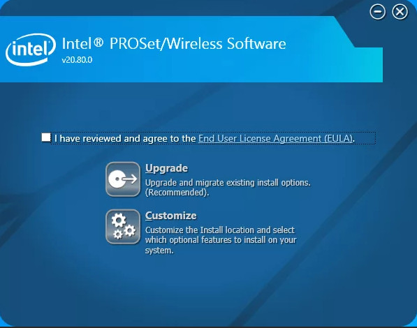 Intel PROSet/Wireless WiFi Driver