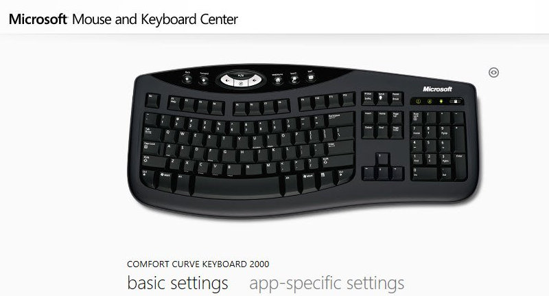 Microsoft Mouse and Keyboard Center with USB Drivers