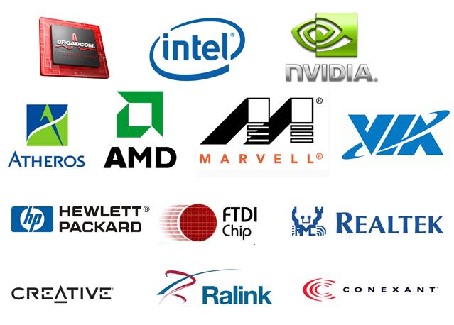 Список сайтов производителей устройств