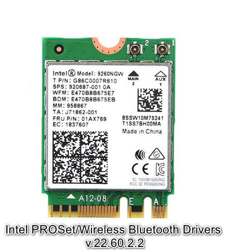 Intel PROSet/Wireless Bluetooth Drivers