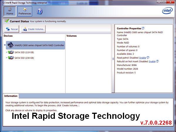 Intel Rapid Storage Technology enterprise & VROC Drivers